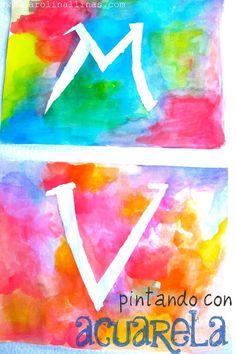 Nuestro Mundo Creativo: Letras con Acuarela