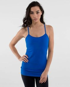 Lululemon Power Y Tank *Luon $52.00 Baroque Blue ~