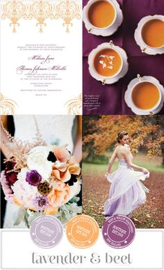 lavender & orange wedding inspiration @Brandy Waterfall Busby Stringer Manor House