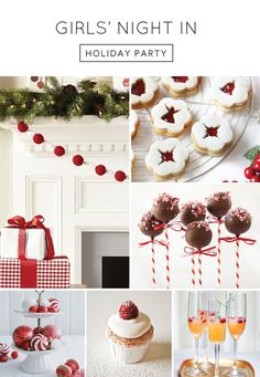 inspiring ideas for a Holiday Girls Night In