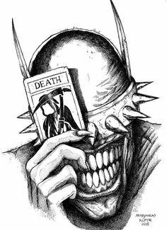 Joker Drawings, Batman Drawing, Creepy Drawings, Dark Art Drawings, Tattoo Design Drawings, Art Drawings Sketches, Cool Drawings, Horror Drawing, Graffiti Drawing