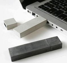 keeping your data safe in concrete cast USB flash drive