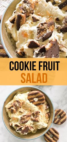 Cookie Fruit Salad is a staple at any Midwest BBQ or potluck. Who knew you'd call something like this a salad? 5 smart points per serving salad salad salad recipes grillen rezepte zum grillen Cookie Salad, Fudge, Carrot Salad Recipes, Strawberry Pretzel Salad, Gluten Free Puff Pastry, Easy Holiday Recipes, Kid Recipes, Fruit, Salads
