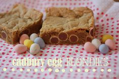 Be prepared for your next dessert addiction. Not only am I addicted to Cadbury Eggs, { i STOCK UP when they come out . Yummy Treats, Delicious Desserts, Sweet Treats, Yummy Food, Fun Food, Holiday Treats, Holiday Recipes, Holiday Foods, Holiday Desserts