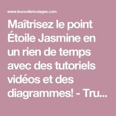 Maîtrisez le point Étoile Jasmine en un rien de temps avec des tutoriels vidéos et des diagrammes!  - Trucs et Bricolages