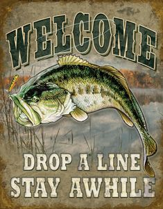 Welcome Bass Fishing can be purchased at Allposters.com