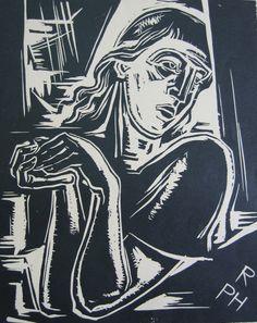 Robert Philippi (Austrian, 1877-1959)  Törichte Jungfrau  Woodcut, 1930