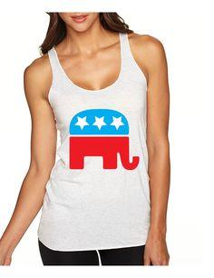 Republican party elephant elections Women tanktop election shirt #republican #election #tanktop #womensfashion #election2016
