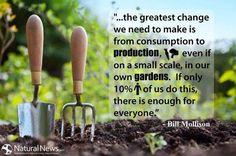 bill mollison growing gardens quote