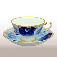 (愁海棠)1客ティーカップ&ソーサー Tea Cups, Tableware, Dinnerware, Tablewares, Dishes, Place Settings, Cup Of Tea