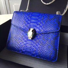 Bvlgari Samll Python Leather Serpenti Forever Flap Cover Bag