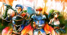 Hector, Eliwood, and Lyn
