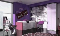 Cool purple bedroom I have ever seen