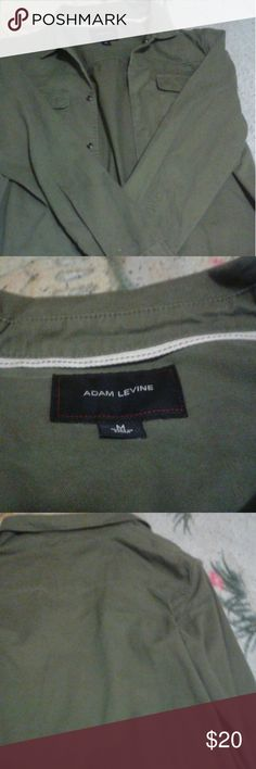 Adam Levine button up shirt A button up shirt that is light olive green. It's only been used once Adam Levine Collection Shirts Casual Button Down Shirts