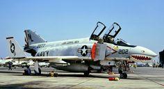 "F-4N Phantom II of VF-111 ""Sundowners"" at NAS Miramar in August 1975. (photo by Akira Watanabe)"