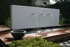 Tripple shoot water feature | adamchristopherdesign.co.uk