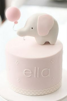 Pink Elephant Girl Baby Shower Cake from hello naomi: girl themes - sweet simple Adorable! Baby Cakes, Baby Shower Cakes, Cupcake Cakes, Smash Cakes, Sweets Cake, 3d Cakes, Hello Naomi, Pretty Cakes, Cute Cakes