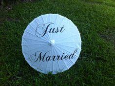 Just Married Wedding Parasol - Wedding Photo Prop - Decoration
