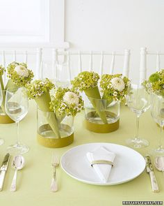 Love this idea for event tables...  Photo: Martha Stewart