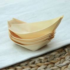 Large Wooden Canapé Boats - pack of 10