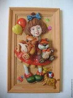 """Купить панно """"Маша ,медведь и еще куча всего"""" - панно на стену, панно настенное, панно в подарок"""