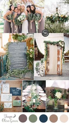 taupe-and-olive-leave-wedding-color-inspiration