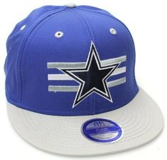 Dallas Cowboys Flat Bill Billboard Style Snapback Hat Cap Blue Gray NFL. $14.99