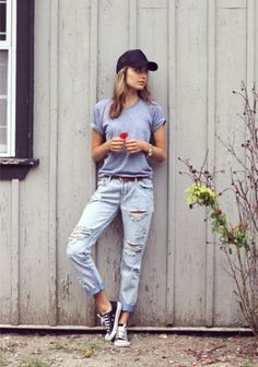 Easy to Pull Off Baggy Denim... Literally.