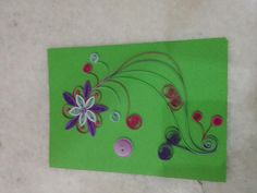 Beautiful quilling card by Hajra