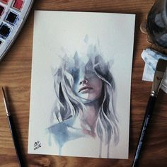 Sketch. Watercolor Paintings Phasing In and Out. By miro_z.