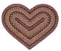 "Checkerberry Heart Shaped Braided Rug by Checkerberry Rugs by IHF. $16.95. 100% Jute Braided Area Rug. All natural renewable materials. Checkerberry Heart Shaped Braided Rug 20""x30"" Heart ShapedIHF braided rugs are made from natural jute fibers and are carefully handcrafted to insure long-lasting quality. The braided rugs are absolutely beautiful and remain durable over time."