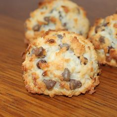 Mini chocolate chips combine with sweet coconut to create this delightful macaroon. Nothing says Springtime better than macaroons. *Note: These macaroons are made without flour.