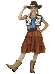 Old West Theme: Pair a cowgirl hat with boots, a ruffled or denim skirt, and a belt, and you've got a great cowgirl costume.