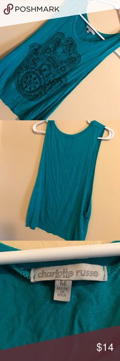 Charlotte Russe Tank Size medium Charlotte russe tank super cute and in perfect condition! Charlotte Russe Tops Tank Tops