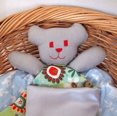 Teddy Taggie Comforter for Babies and Children  Green by Debsla