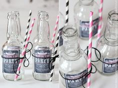 Re-purpose old soda bottles as wedding glasses/favors!