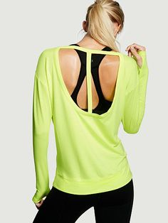 T-back Tee - Victoria's Secret Sport - Victoria's Secret.  Why not look pretty while you burn calories?!