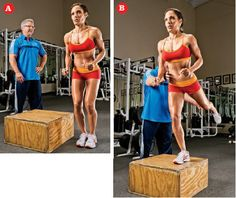 Lateral Step-Up With Kickback