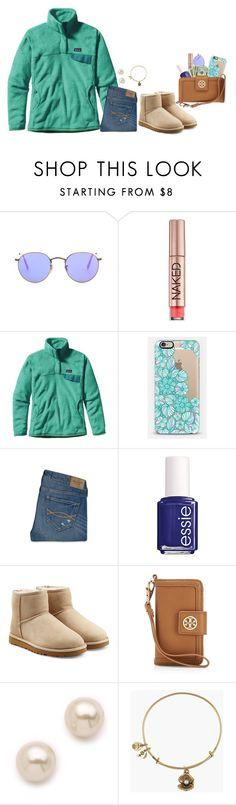 """""""Homework STINKS!"""" by kaleighgranger ❤ liked on Polyvore featuring Ray-Ban, Urban Decay, Patagonia, Casetify, Abercrombie & Fitch, Essie, UGG Australia, Tory Burch, Juliet & Company and Alex and Ani"""