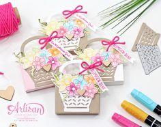 Frühlingsverpackungen Stampin Up Osterkörbchen