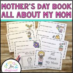 Mother's Day All About My Mom Printable Book by Primary Playground