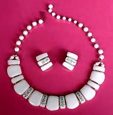 pink milk glass earrings - Google Search