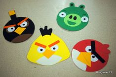 paper punches card ideas  | Angry Birds Birthday Party Creations