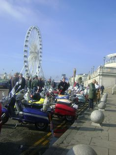 Brighton, vintage and motorcycle