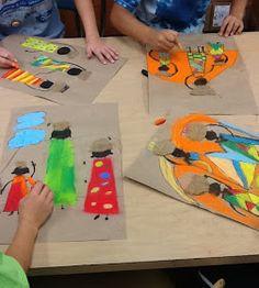 Mrs. Allen's Art Room: African Kanga Compositions