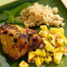 Curried Chicken With Mango Salad (via www.foodily.com/r/jfkMmCaqp)
