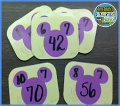 Paint Sample Cards are Terrific for Fact Family Cards!A Mickey Mouse Spin on Triangular Flash Cards More FREE Disney Paint Sample Flash Cards! Disney Classroom, Math Classroom, Classroom Ideas, Classroom Organization, Classroom Direct, Classroom Tools, Classroom Freebies, Future Classroom, Classroom Management