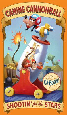 Walt Disney Imagineering Gives Barnstormer a New Backstory in Posters Throughout Storybook Circus at Magic Kingdom Park