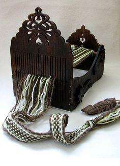 rigid heddle loom / tape loom / weaving loom / vintage - made to order Inkle Weaving, Weaving Tools, Inkle Loom, Card Weaving, Tablet Weaving, Weaving Textiles, Weaving Patterns, Textile Patterns, Fibre Textile
