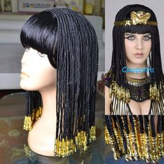 Egyptian Cleopatra Nightclub show Costume Wig  #Unbranded #FullWig